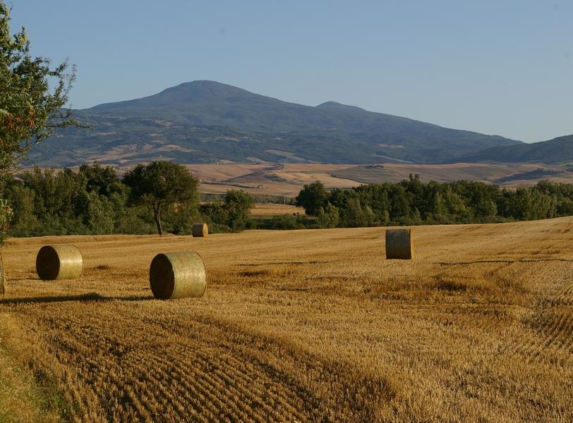 Il Monte Amiata, distante circa 40 km.